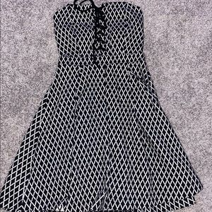 Black And White B Darlin Strapless Dress
